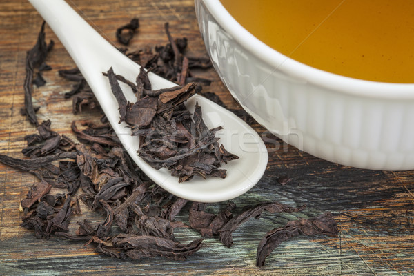 Oolong zwarte thee los blad Stockfoto © PixelsAway
