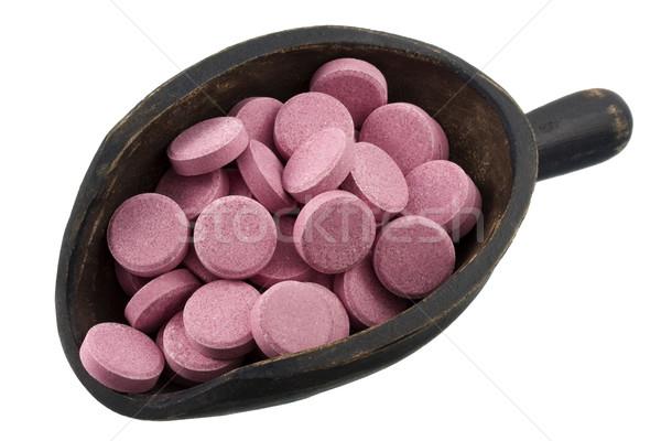 Schep roze pillen vitamine maag Stockfoto © PixelsAway