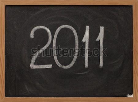 2011 blanche craie tableau noir Photo stock © PixelsAway