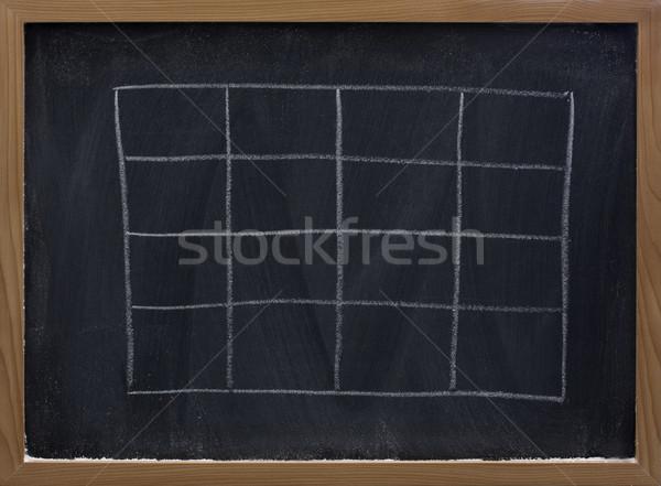 Asztal iskolatábla fehér kréta radír textúra Stock fotó © PixelsAway