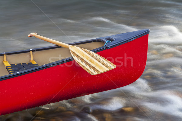canoe bow with paddle Stock photo © PixelsAway