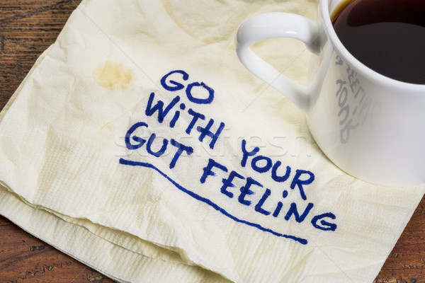 go with your gut feeling Stock photo © PixelsAway