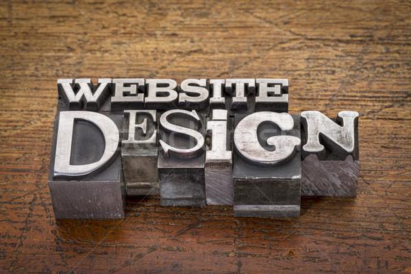 Conception de site web texte métal type mixte vintage Photo stock © PixelsAway