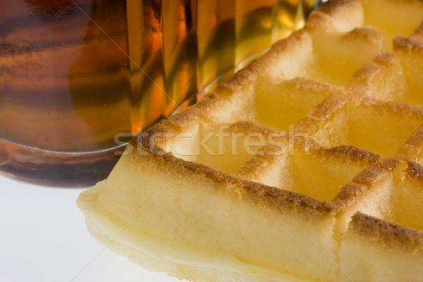 вафельный клен сироп бутылку продовольствие Сток-фото © PixelsAway