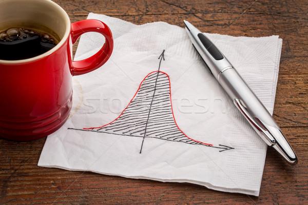 Bel curve servet normaal distributie grafiek Stockfoto © PixelsAway