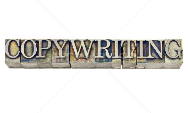 copywriting word in metal type Stock photo © PixelsAway