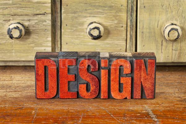 design word in vintage wood type Stock photo © PixelsAway