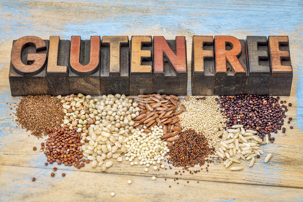 gluten free grains and typography Stock photo © PixelsAway