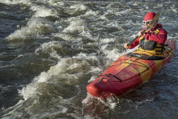 river kayaker paddling Stock photo © PixelsAway