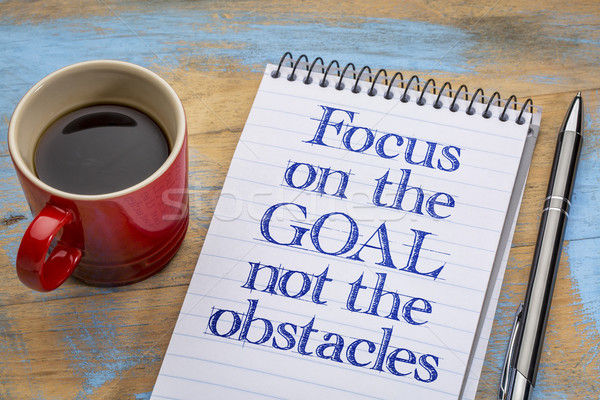 Focus on the goal, not obstacles Stock photo © PixelsAway
