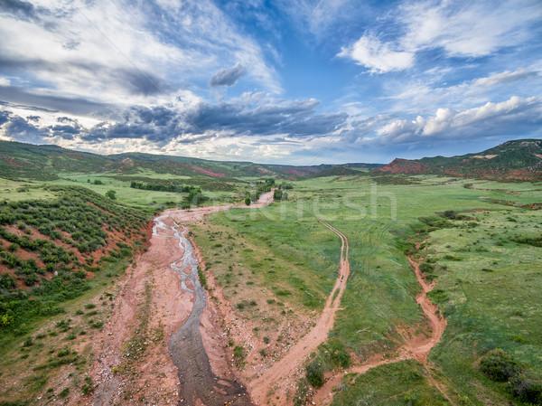 горные долины ручей Колорадо ранчо красный Сток-фото © PixelsAway