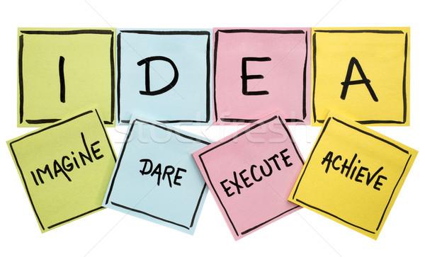 Idee acroniem motivatie handschrift zwarte kleurrijk Stockfoto © PixelsAway