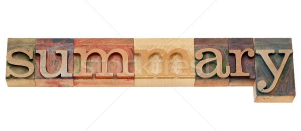 összefoglalás szó magasnyomás izolált klasszikus Stock fotó © PixelsAway