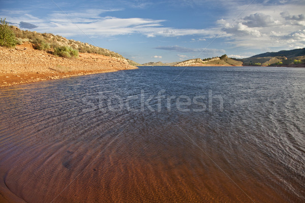 Winderig berg meer reservoir fort Colorado Stockfoto © PixelsAway