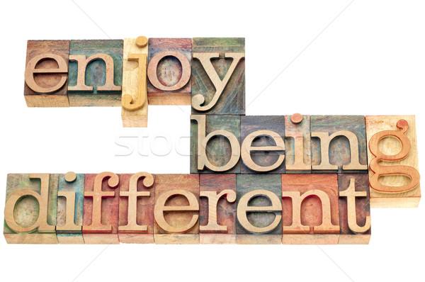 enjoy being different  Stock photo © PixelsAway