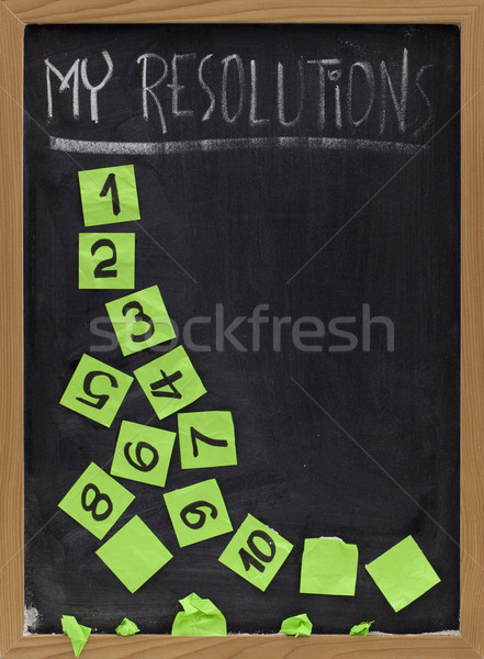 fading new year resolutions Stock photo © PixelsAway
