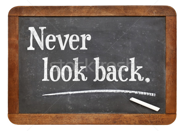 Asla bakmak geri motivasyon hatırlatma Stok fotoğraf © PixelsAway