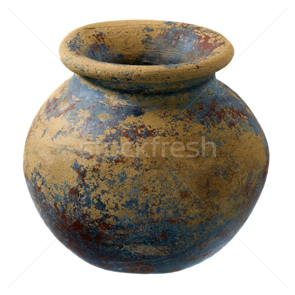 small clay plant pot with rough finish Stock photo © PixelsAway