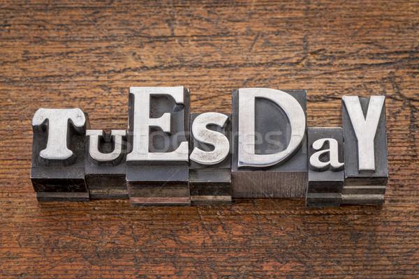 Tuesday word in metal type Stock photo © PixelsAway