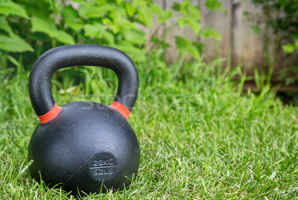 heavy competition  kettlebell on grass Stock photo © PixelsAway