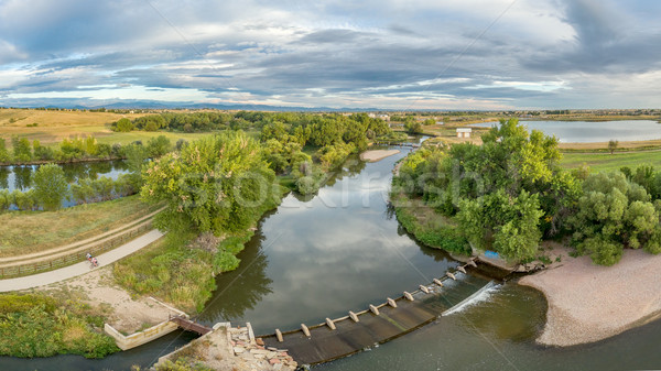 aerial panorama of Poudre River Stock photo © PixelsAway