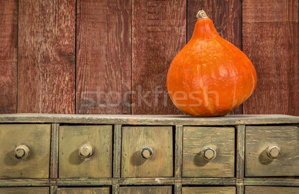 Rustique vacances squash hiver tiroir placard Photo stock © PixelsAway