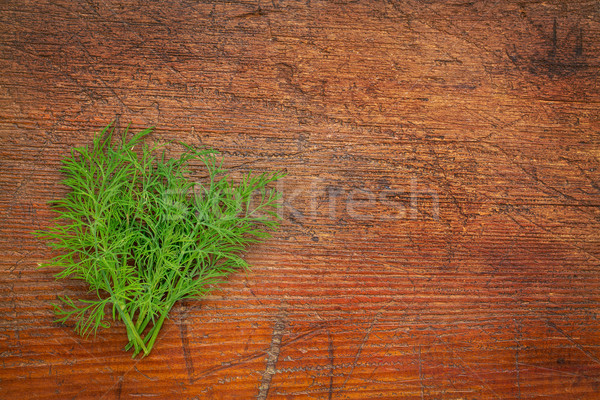 fresh green dill herb on rustic wood Stock photo © PixelsAway