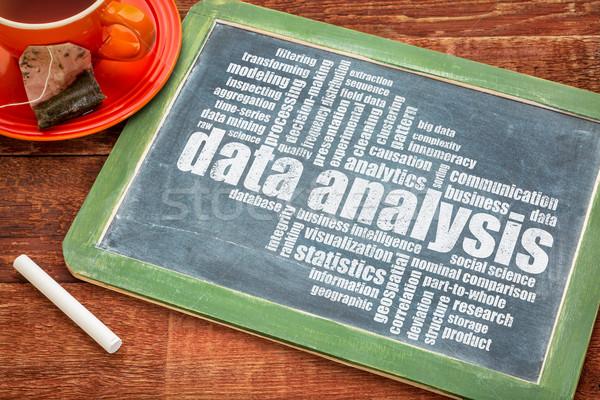 データ 分析 言葉の雲 黒板 カップ 茶 ストックフォト © PixelsAway