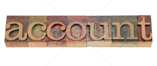 Konto słowo drewna typu odizolowany Zdjęcia stock © PixelsAway