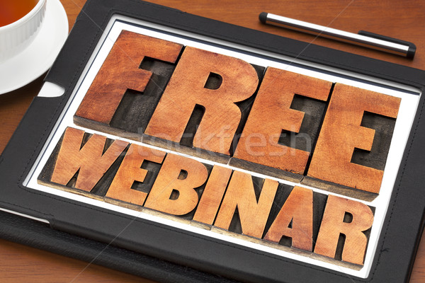 free webinar banner  in wood type Stock photo © PixelsAway