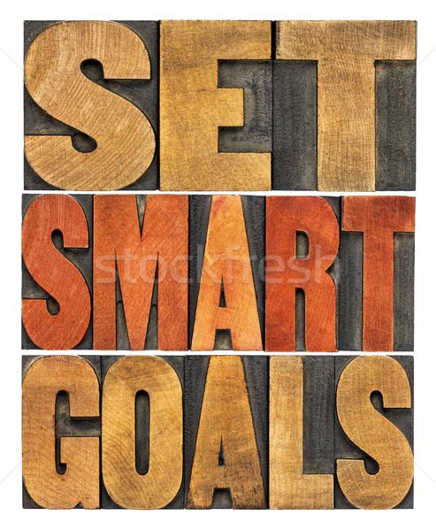set smart goals word abstract Stock photo © PixelsAway