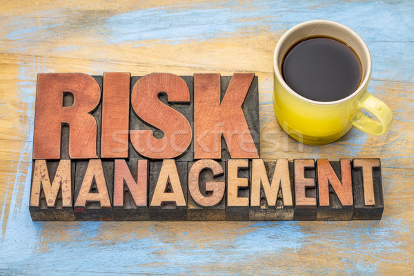 risk management banner in wood type Stock photo © PixelsAway
