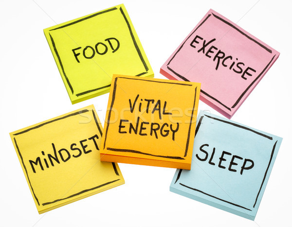vital energy concept on sticky notes Stock photo © PixelsAway