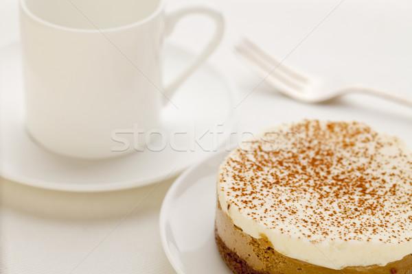 кофе мокко чизкейк белый Китай пластина Кубок Сток-фото © PixelsAway