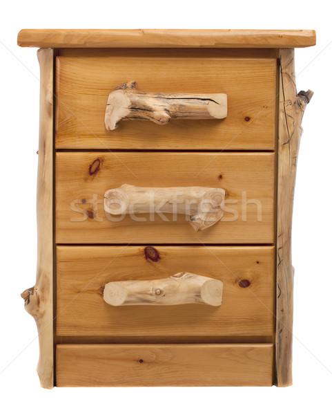 Rustique pin poitrine tiroirs naturelles bois Photo stock © PixelsAway