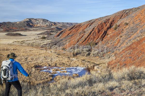hiker in a rugged Colorado landscape Stock photo © PixelsAway