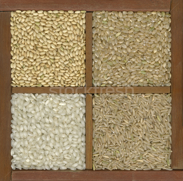 four rice grains in a box with dividers Stock photo © PixelsAway
