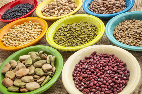 variety of beans in bowls Stock photo © PixelsAway