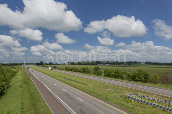 Auto-estrada Missouri milho campos aldeia Foto stock © PixelsAway