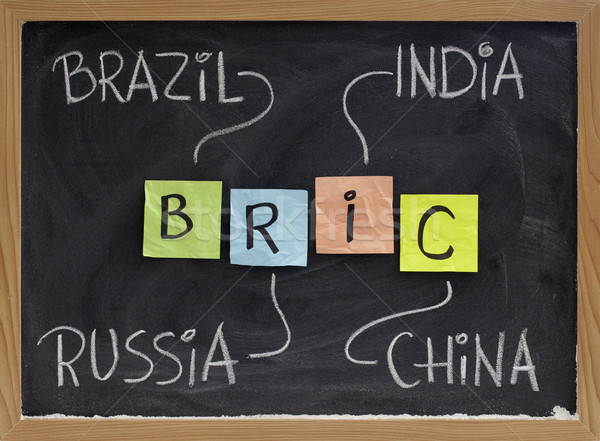 Brazil, Russia, India and China - BRIC Stock photo © PixelsAway