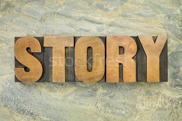 story word typography Stock photo © PixelsAway