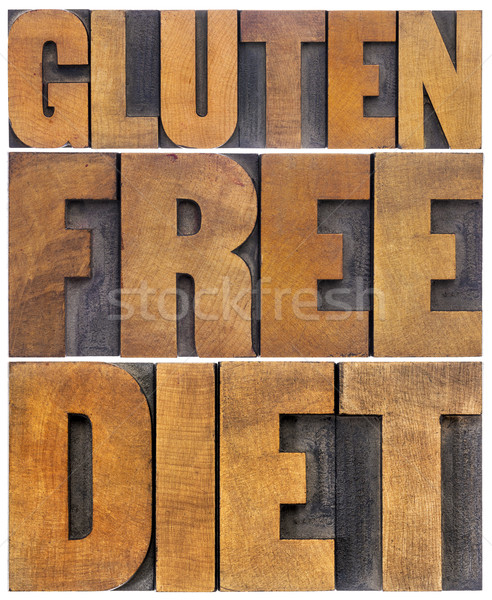 gluten free diet word abstract Stock photo © PixelsAway