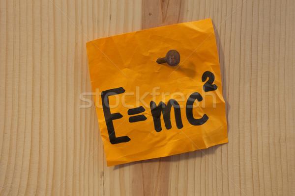 Einstein equation nailed Stock photo © PixelsAway