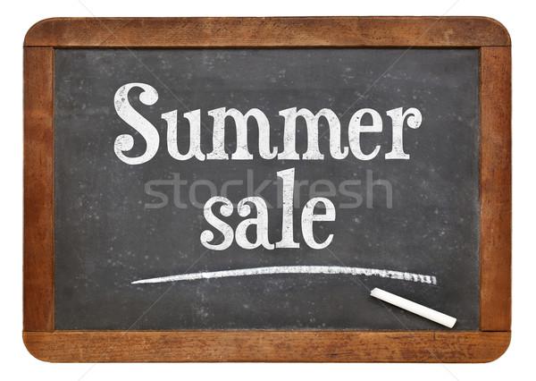Summer sale blackboard sign  Stock photo © PixelsAway