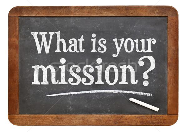 что миссия вопросе доске белый мелом Сток-фото © PixelsAway