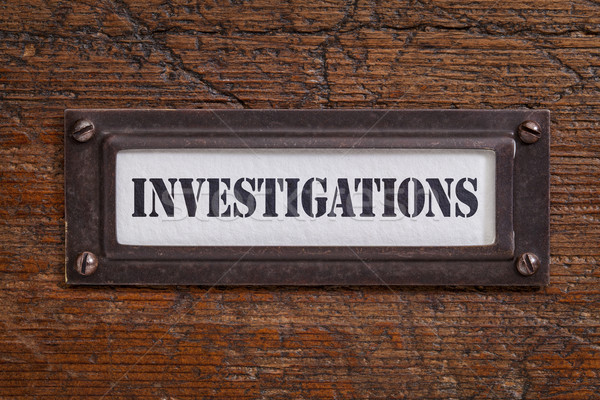 investigations -  file cabinet label Stock photo © PixelsAway