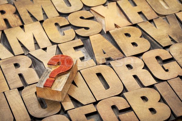 question mark and alphabet Stock photo © PixelsAway