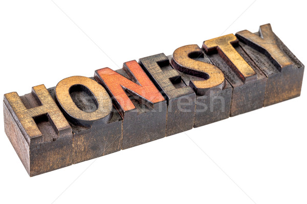 honesty word in vintage wood type Stock photo © PixelsAway