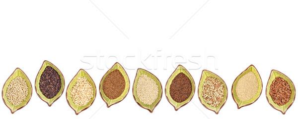 Sin gluten tazón establecer nueve negro Foto stock © PixelsAway