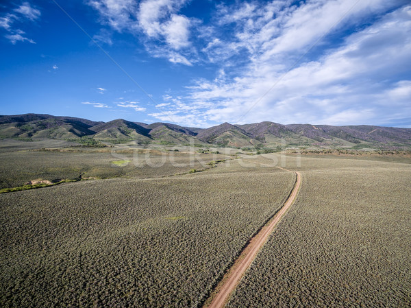 ranch road and Medicine Bow Mountains Stock photo © PixelsAway